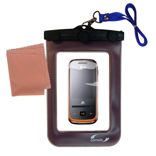 Waterproof Case compatible with the LG GM310 to use underwater
