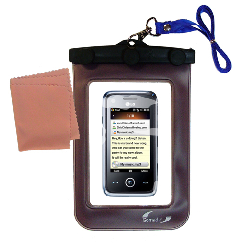 Waterproof Case compatible with the LG GM730 to use underwater