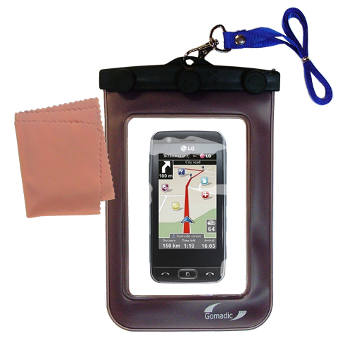 Waterproof Case compatible with the LG GT505 to use underwater