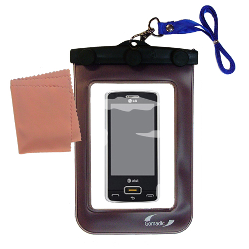 Waterproof Case compatible with the LG GW820 eXpo to use underwater