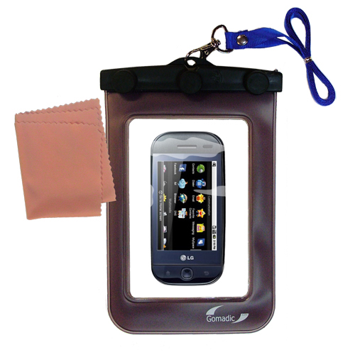Waterproof Case compatible with the LG InTouch Max to use underwater