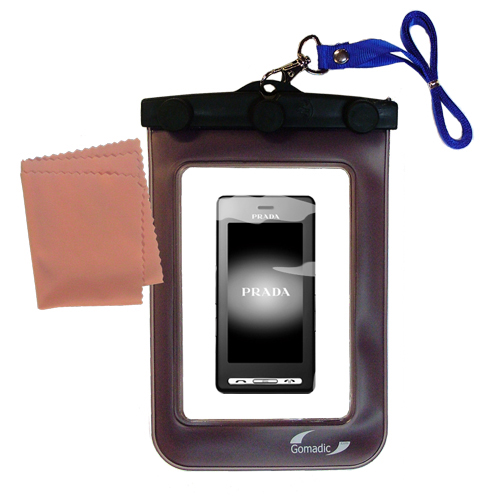 Waterproof Case compatible with the LG KE850 Prada to use underwater