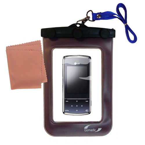 Waterproof Case compatible with the LG KF510 / KF-510 to use underwater