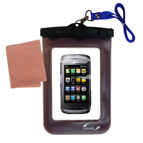 Waterproof Case compatible with the LG KM555E to use underwater