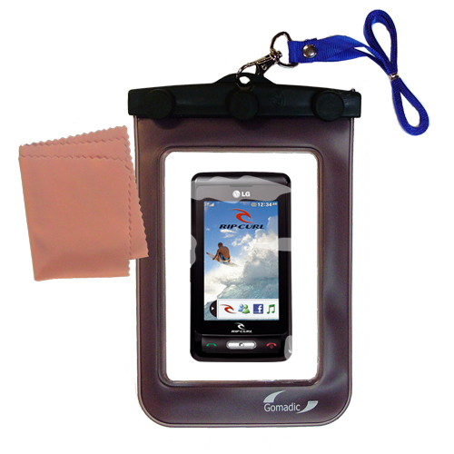Waterproof Case compatible with the LG KP550 Rip Curl to use underwater