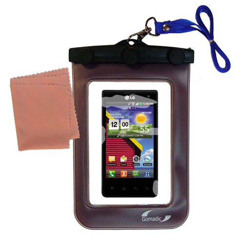 Waterproof Case compatible with the LG Lucid 1 / 2 / 3 to use underwater