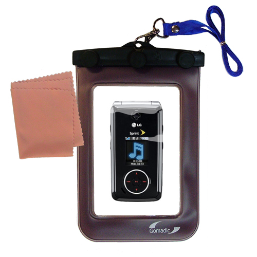 Waterproof Case compatible with the LG LX570 / LX-570 to use underwater