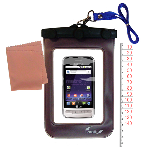 Waterproof Case compatible with the LG MS690 to use underwater