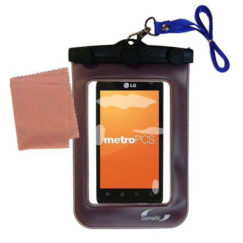 Waterproof Case compatible with the LG MS910 to use underwater