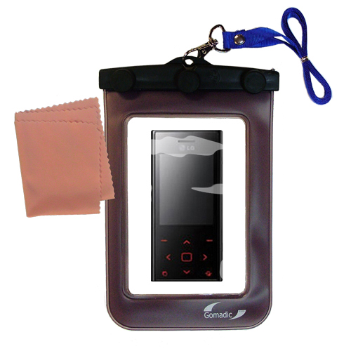 Waterproof Case compatible with the LG New Chocolate BL20 to use underwater