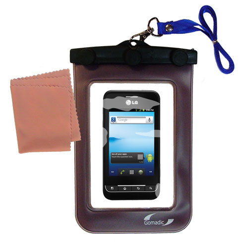 Waterproof Case compatible with the LG Optimus 2 to use underwater