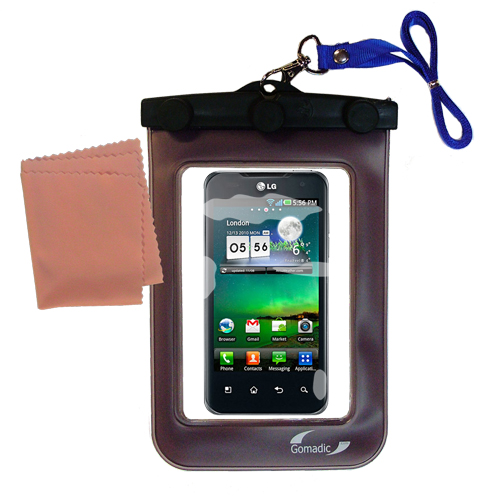 Waterproof Case compatible with the LG Optimus 2X to use underwater
