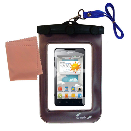 Waterproof Case compatible with the LG Optimus 3D Cube to use underwater