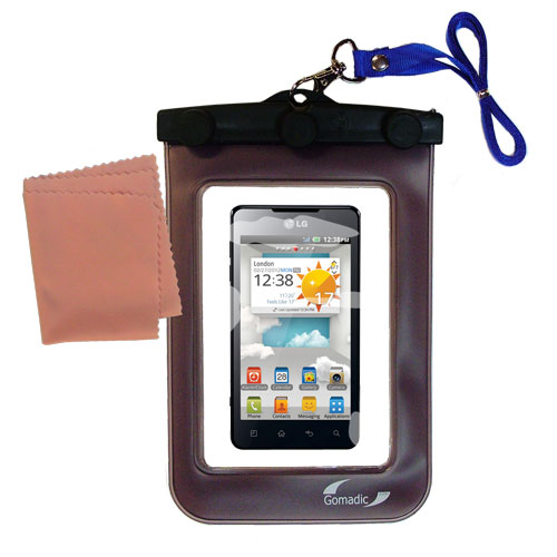 Waterproof Case compatible with the LG Optimus 3D Max to use underwater