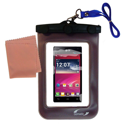Waterproof Case compatible with the LG Optimus 4X HD to use underwater