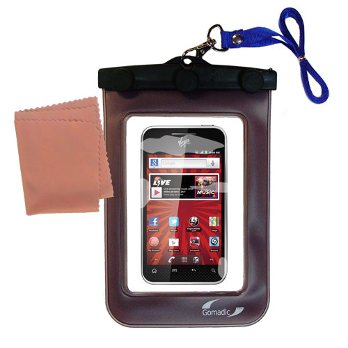 Waterproof Case compatible with the LG Optimus Elite to use underwater