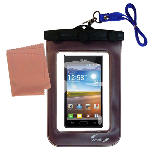 Waterproof Case compatible with the LG Optimus L5 to use underwater