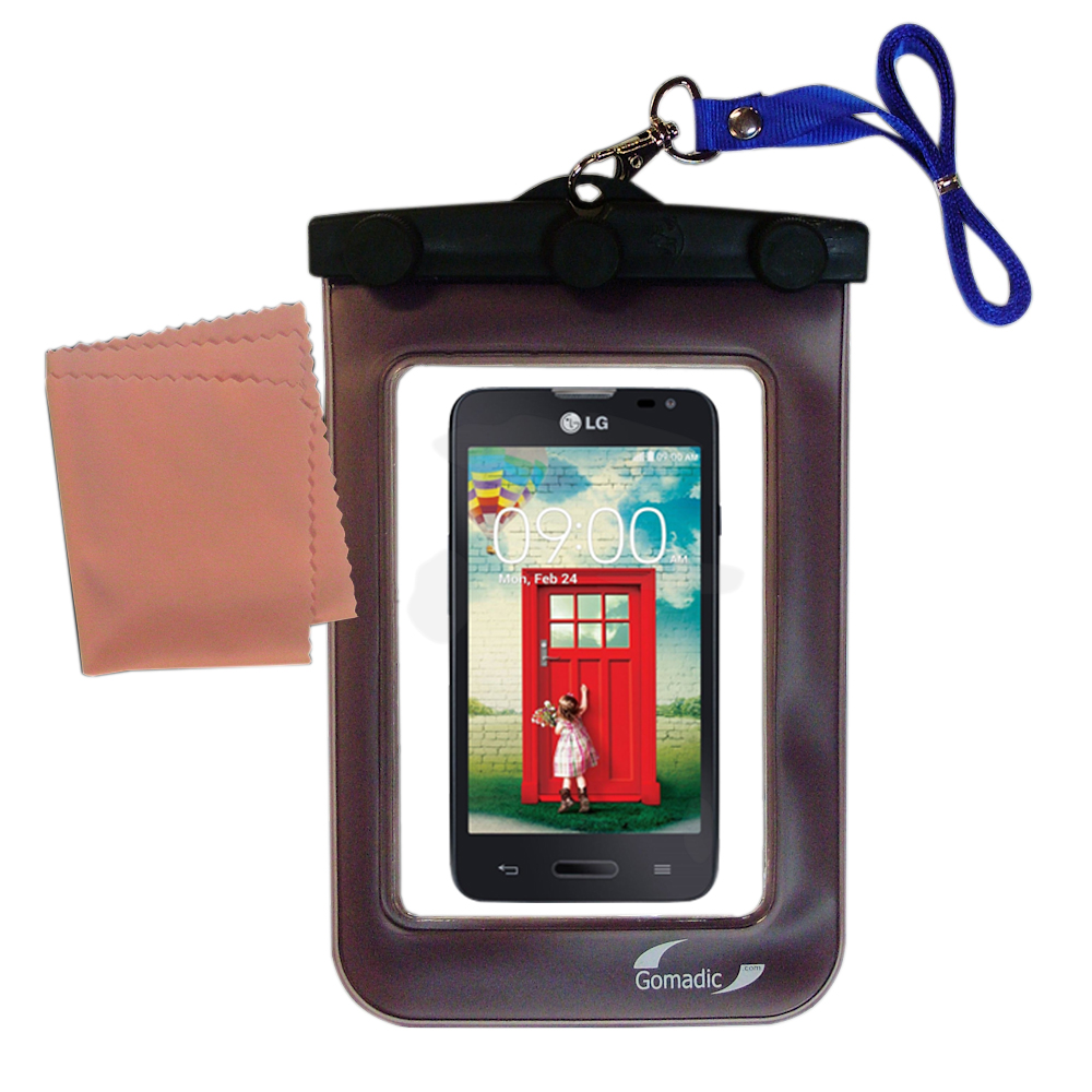 Waterproof Case compatible with the LG Optimus L70 to use underwater