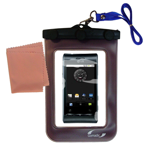 Waterproof Case compatible with the LG Optimus S to use underwater
