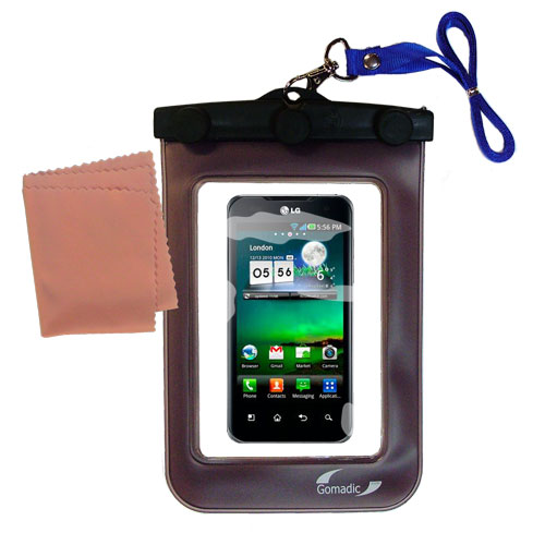 Waterproof Case compatible with the LG Optimus True HD to use underwater