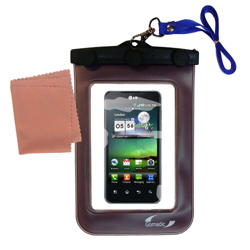 Waterproof Case compatible with the LG Optimus Two to use underwater