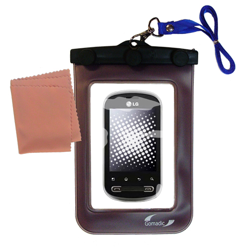 Waterproof Case compatible with the LG Pecan to use underwater