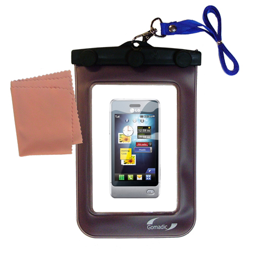 Waterproof Case compatible with the LG Pop GD510 to use underwater