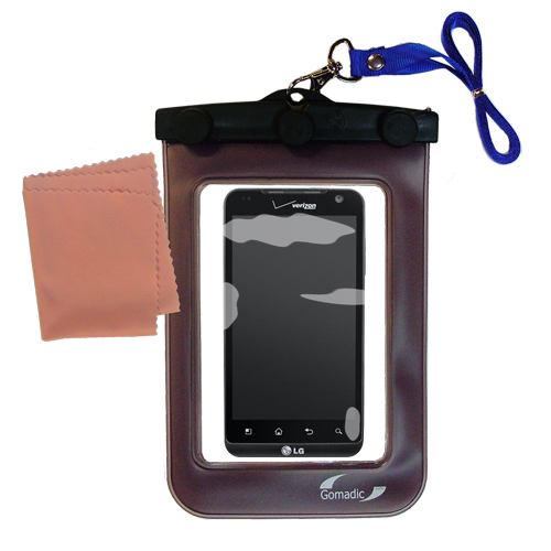 Waterproof Case compatible with the LG Revolution to use underwater