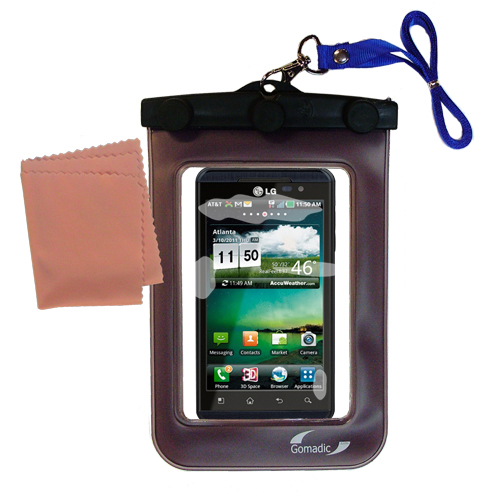 Gomadic clean and dry waterproof protective case suitablefor the LG Thrill 4G  to use underwater - Unique Floating Design