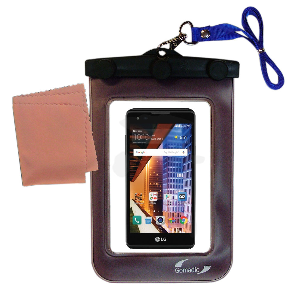 Waterproof Case compatible with the LG Tribute HD to use underwater