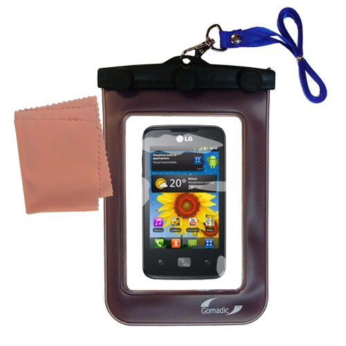 Waterproof Case compatible with the LG Univa to use underwater