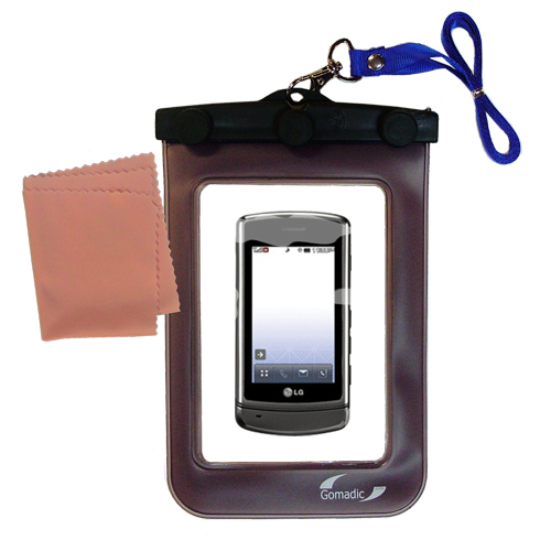 Waterproof Case compatible with the LG UX830 UX840 to use underwater