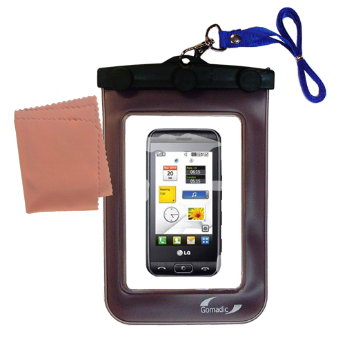 Waterproof Case compatible with the LG Viewty Smile to use underwater
