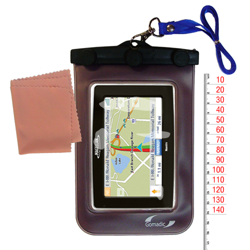 Waterproof Case compatible with the Magellan Maestro 4250 to use underwater