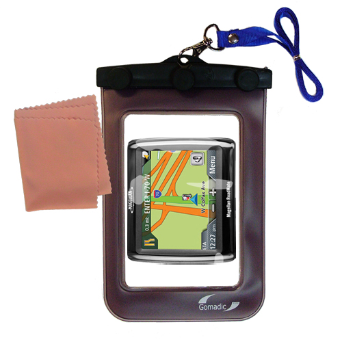 Waterproof Case compatible with the Magellan Roadmate 1210 to use underwater