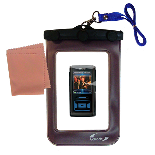 Waterproof Case compatible with the Memorex MMP8620 MMP8640 to use underwater
