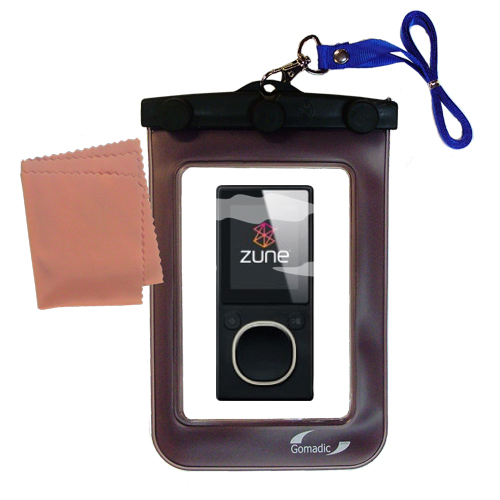 Waterproof Case compatible with the Microsoft Zune 4GB / 8GB to use underwater