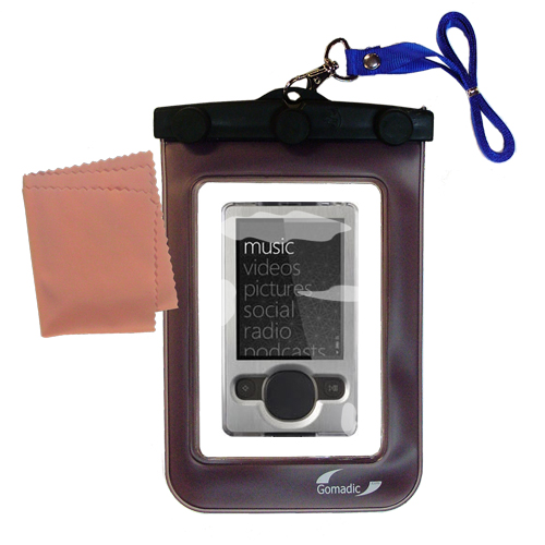 Waterproof Case compatible with the Microsoft Zune (2nd and Latest Generation) to use underwater