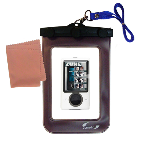 Waterproof Case compatible with the Microsoft Zune Gen2 to use underwater