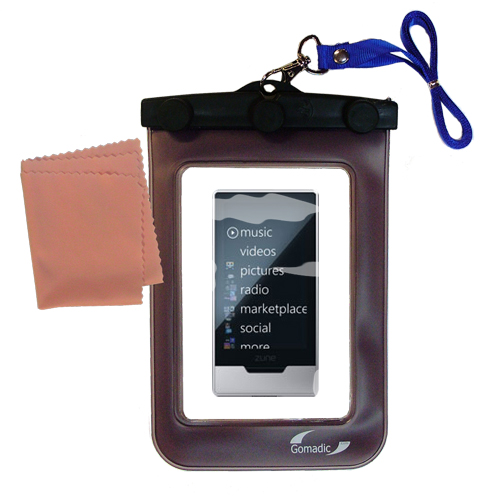 Waterproof Case compatible with the Microsoft Zune HD to use underwater