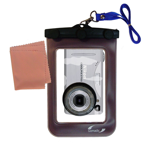 Waterproof Camera Case compatible with the Nikon Coolpix 3700