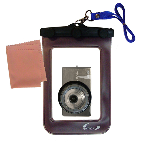 Waterproof Camera Case compatible with the Nikon Coolpix S500