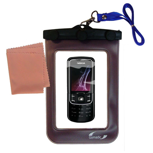 Waterproof Case compatible with the Nokia 8600 Luna to use underwater