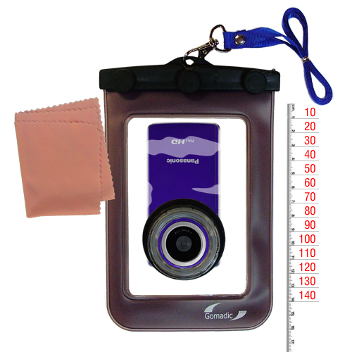 Waterproof Case compatible with the Panasonic HM-TA1V Digital HD Camcorder to use underwater