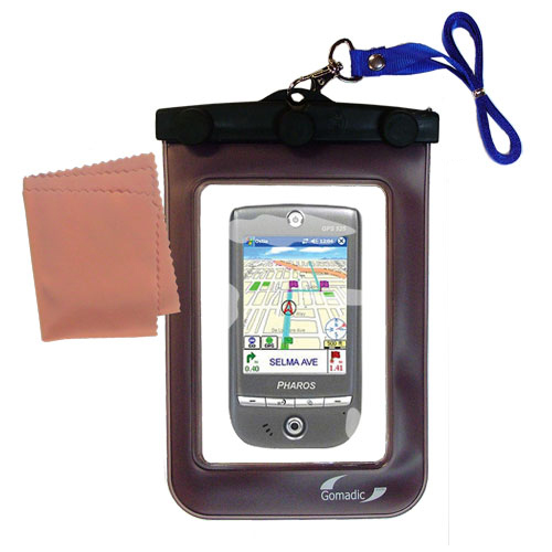 Waterproof Case compatible with the Pharos GPS 525E to use underwater