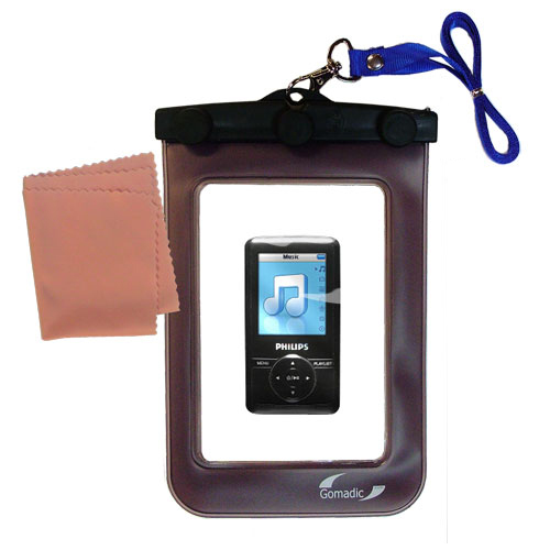 Waterproof Case compatible with the Philips GoGear SA3125/37 to use underwater