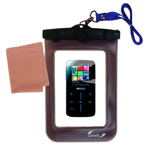 Waterproof Case compatible with the Philips GoGear SA9325/00 to use underwater