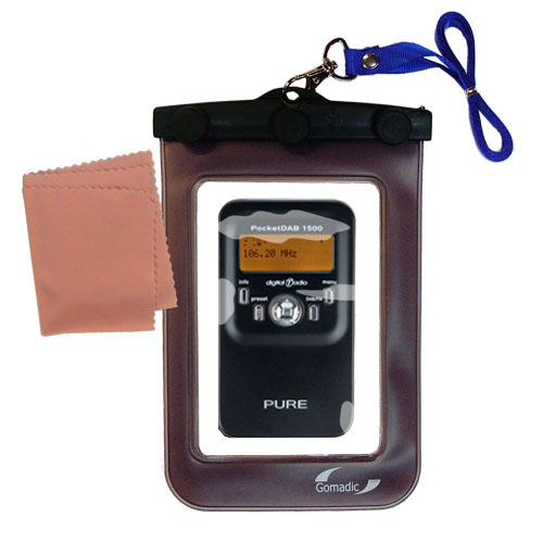Waterproof Case compatible with the PURE PocketDAB 1500 to use underwater