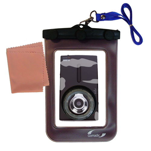 Waterproof Case compatible with the RCA EZ209HD Small Wonder Digital Camcorders to use underwater