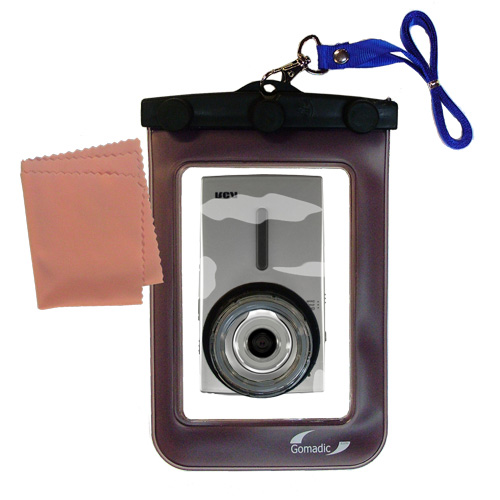 Waterproof Camera Case compatible with the RCA EZ3000 Small Wonder HD Camcorder